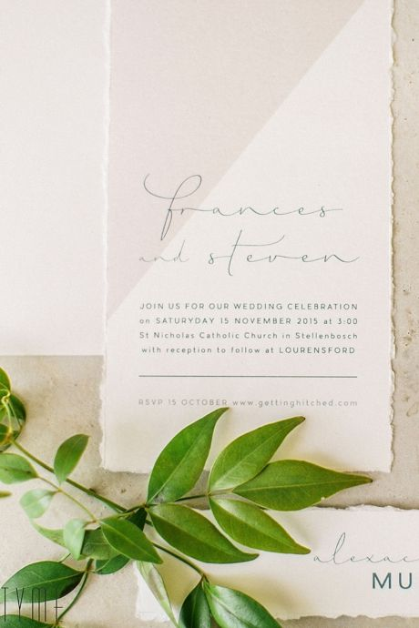 I really like the simplicity and understated elegance of this invitation.