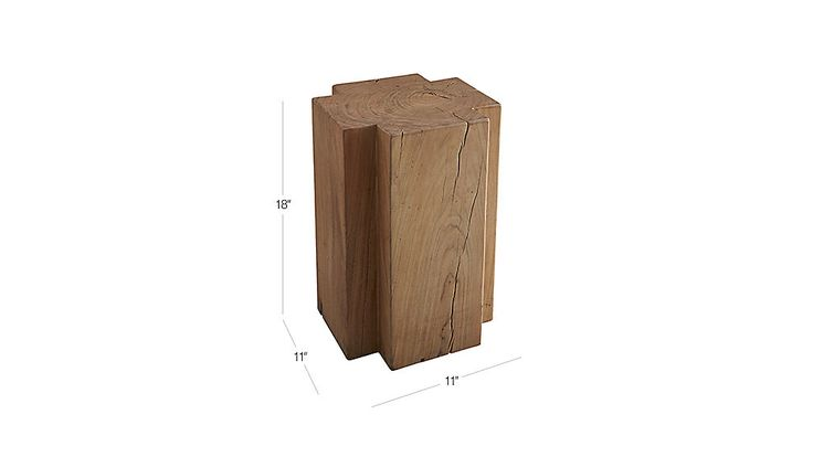plus wood stump side table | CB2