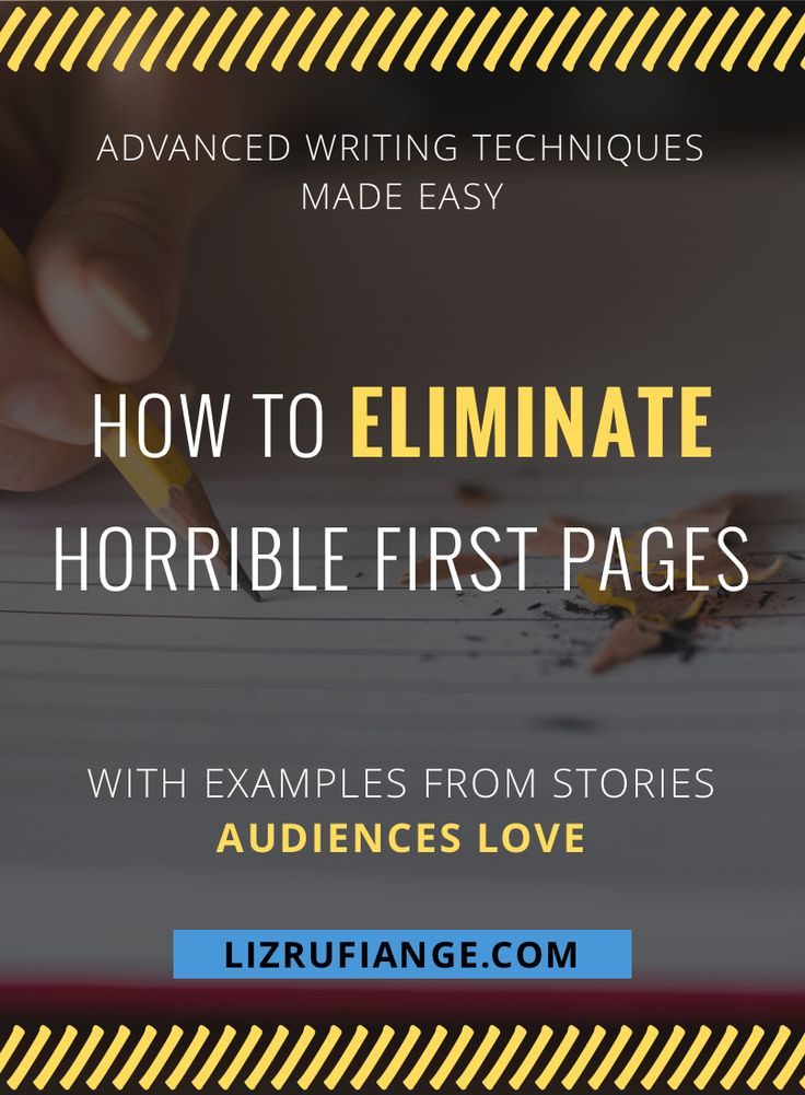 Click through to learn how to use this narrative technique to get rid of lousy opening scenes and the shaky first page of your novel idea. Learn with examples from books, movies, and TV shows that audiences love. via @lizrufiange