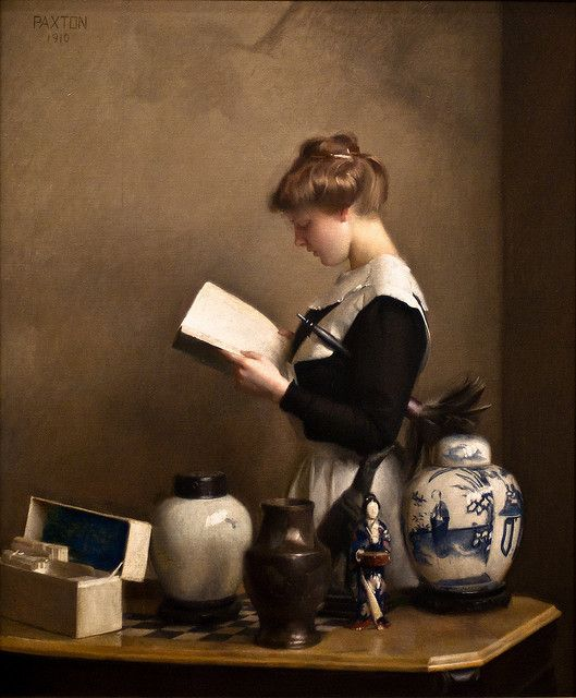 The Housemaid, William McGregor Paxton, 1910 | Flickr - Photo Sharing!