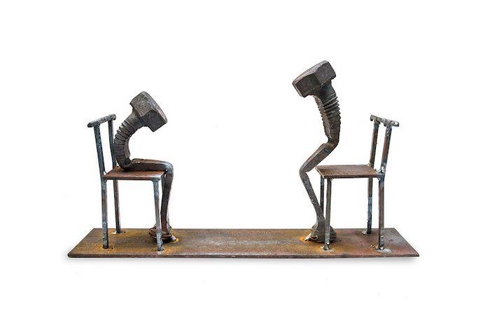 Скульптуры из старых болтов от Тобби Малма (Tobbe Malm)