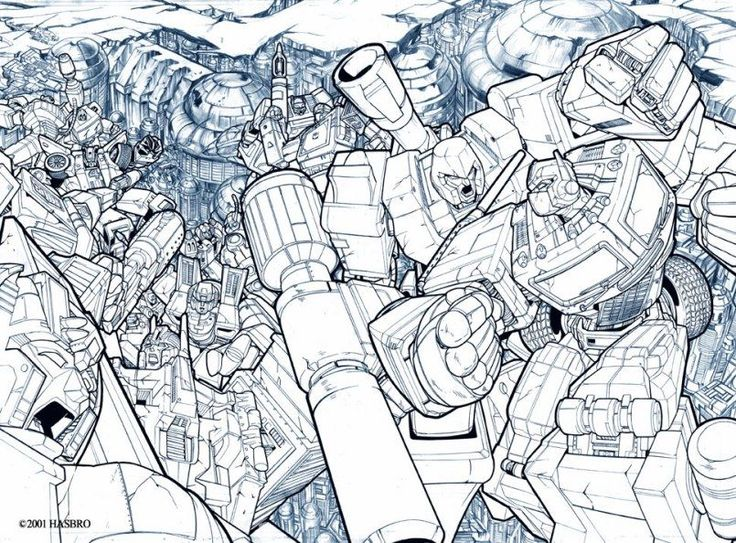 Transformers G1 #1 Holofoil Cover Pencils by Pat Lee
