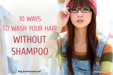 Geen shampoo