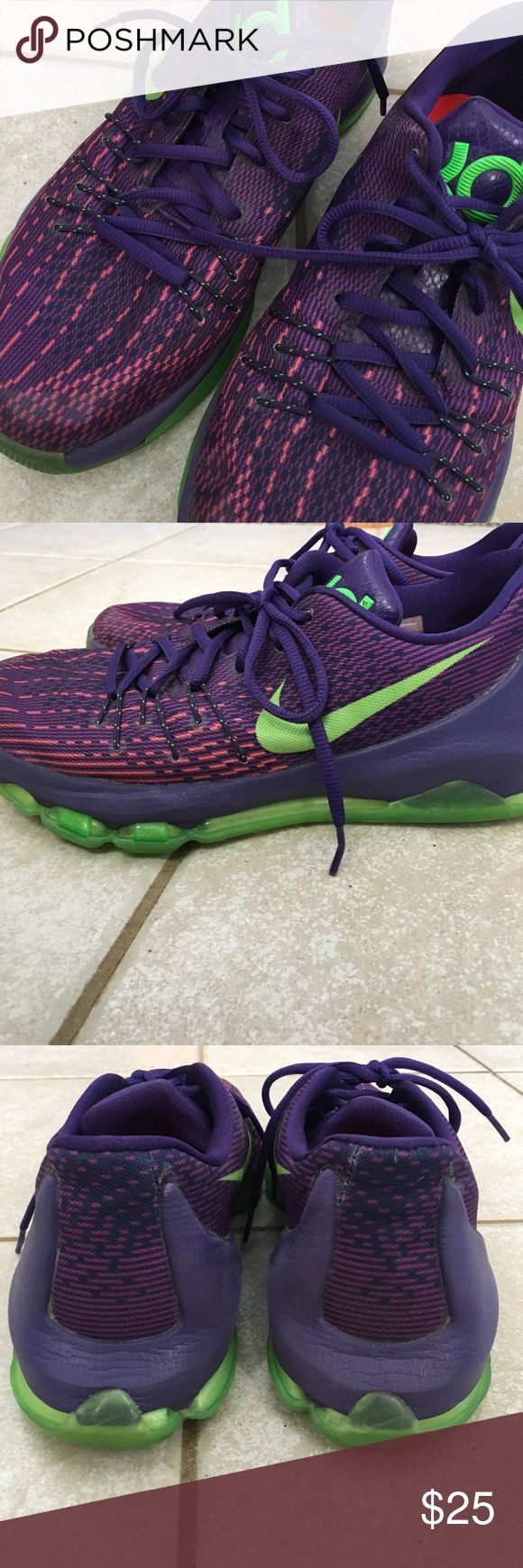 Purple Kd's Slightly worn Kd 8's Youth size 7 Nike Shoes Sneakers