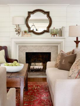 10 best images about living room on pinterest vintage for Tongue and groove fireplace