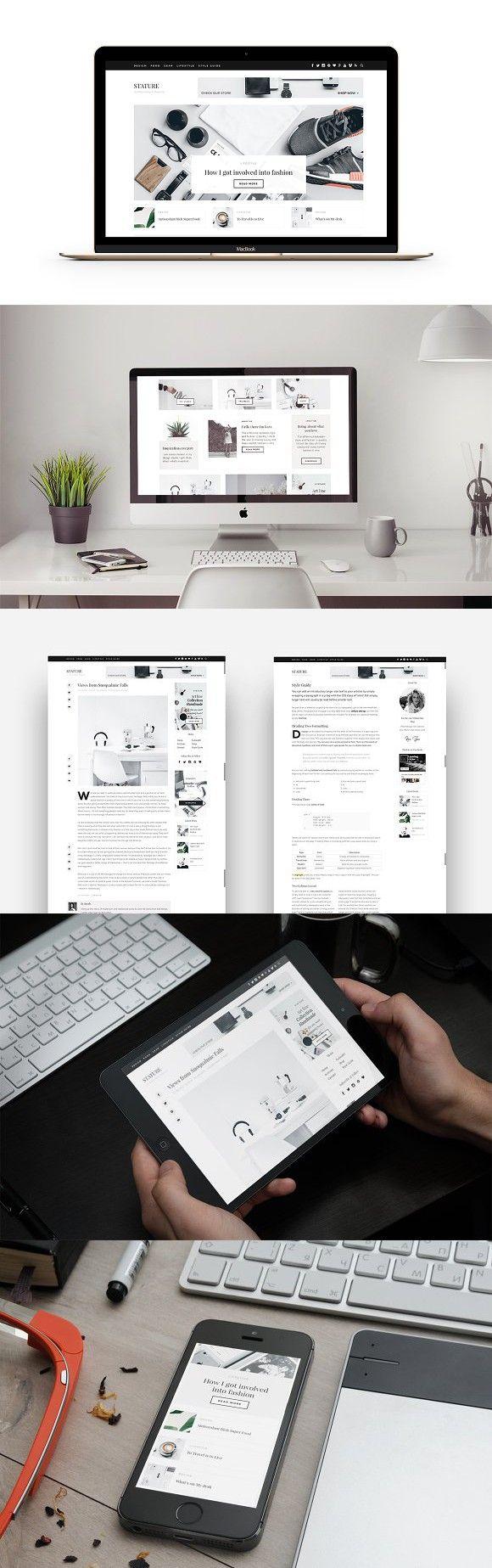 40% Off - Stature - Lifestyle Blog. WordPress Magazine Themes. $29.00