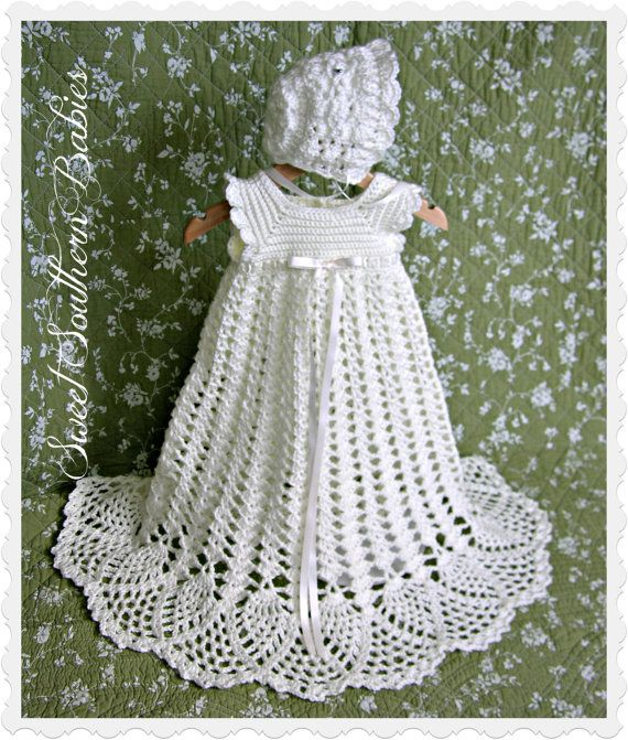 Crochet Patterns Baby Christening Dresses : 1000+ images about Crochet baby/ little girl Dresses on ...