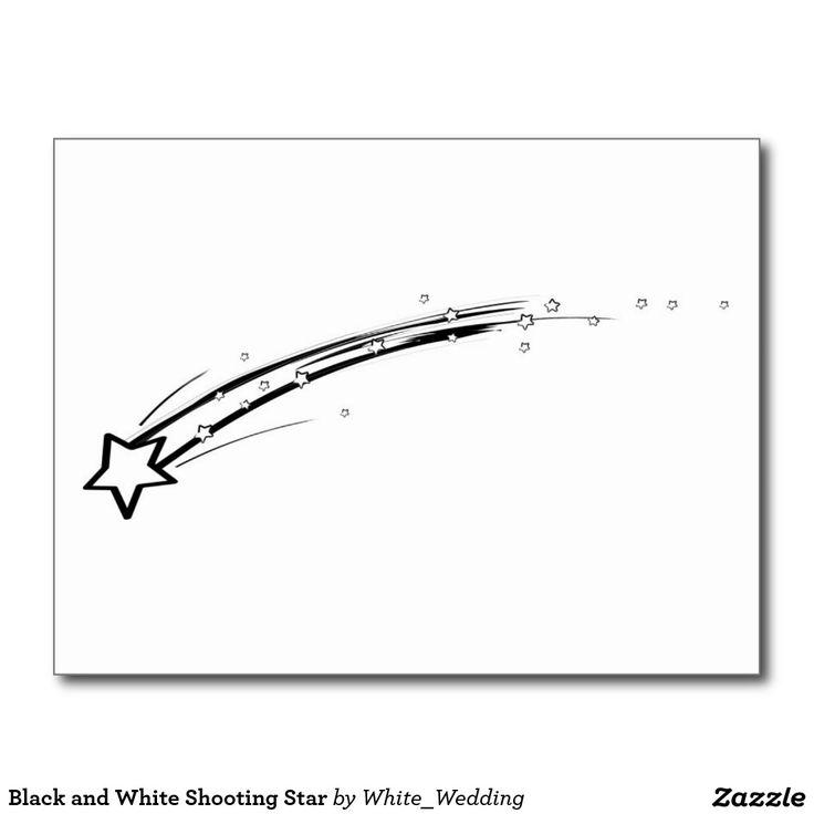 Black and White Shooting Star Postcard