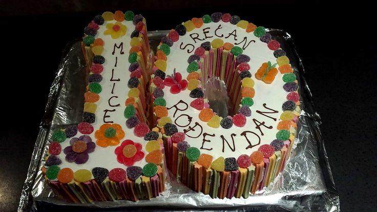 Colourful 10th Birthday Cake