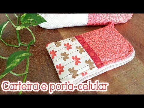 Patchwork Ao Vivo #46: carteira e porta-celular em patchwork - YouTube