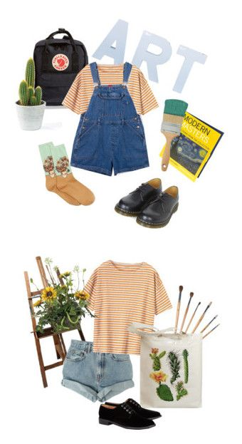 """""""ART HOE"""" by hxdor ❤ liked on Polyvore featuring Fjällräven, Toast, HOT SOX, Dr. Martens, Levi's, Retrò and Robert Clergerie"""