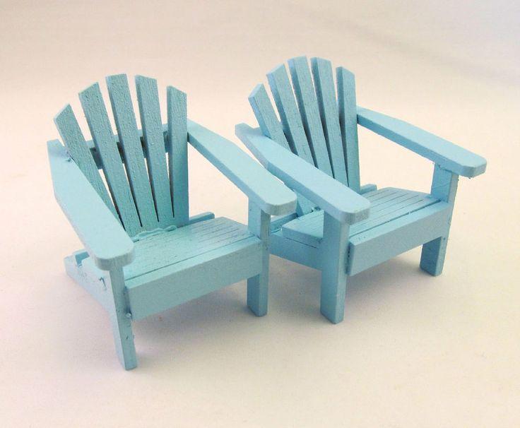 Adirondack Beach Chair Wedding Cake Topper Miniature Dollhouse