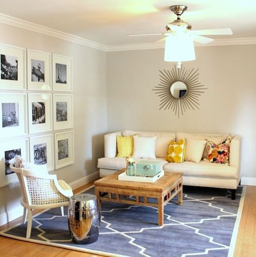 Rooms With Lines: LOVE That Sofa With Contemporary Lines In This Small Space