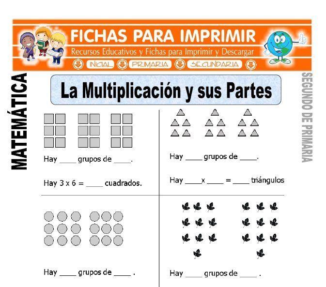 Ficha De Partes De La Multiplicacion Segundo De Primaria Enseñar La Multiplicación Problemas Matematicos De Multiplicacion Primaria Matematicas