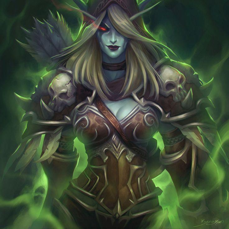 Sylvanas  World of Warcraft Legion (Fan art), julian del Rey on ArtStation at https://www.artstation.com/artwork/N22VD