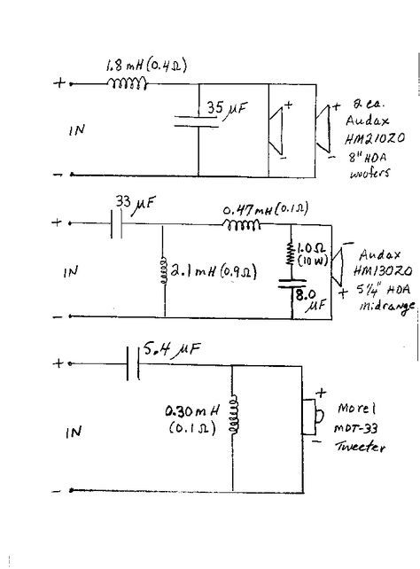3 Way Crossover Schematic - Wiring Diagram Liry