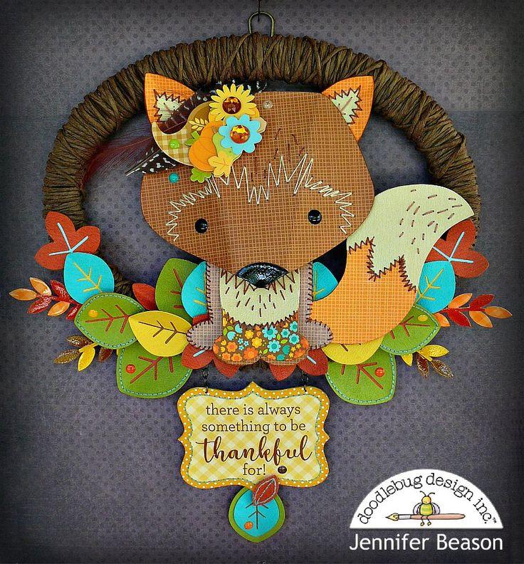 Thankful Mini Wreath - Scrapbook.com