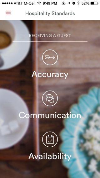 Airbnb iPhone  screenshot