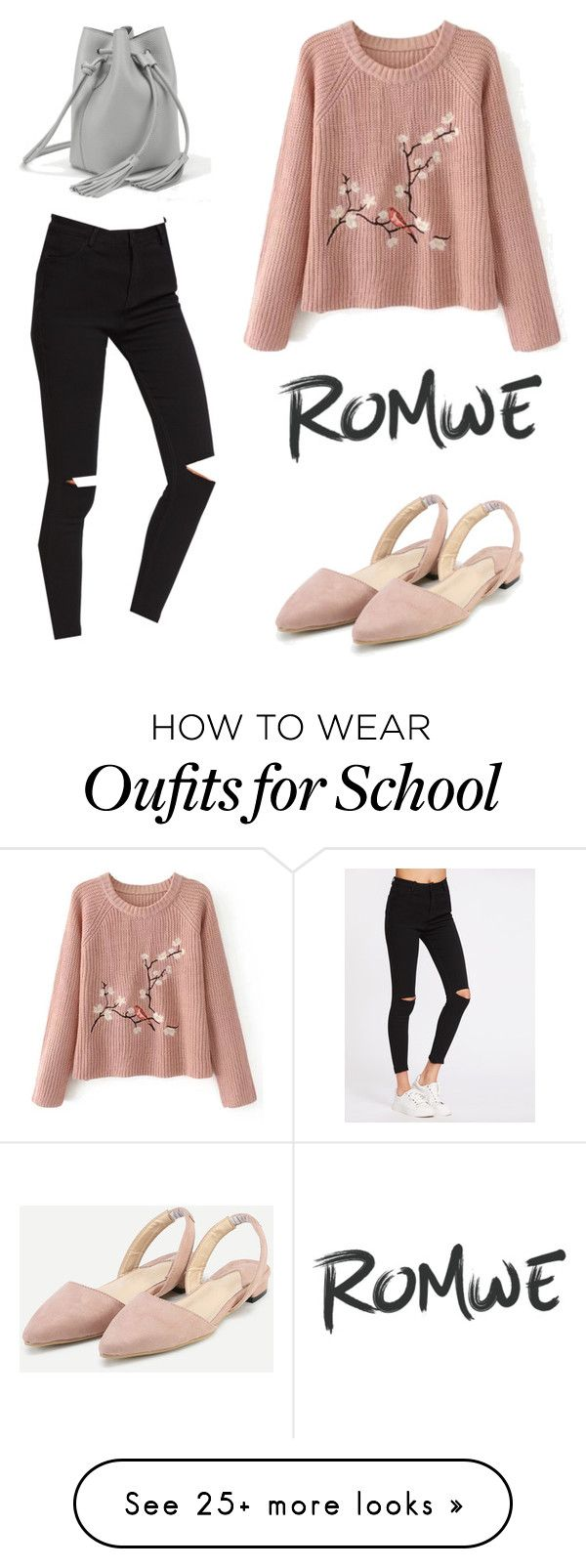 """""""Back to School, yes?"""" by romwe on Polyvore"""