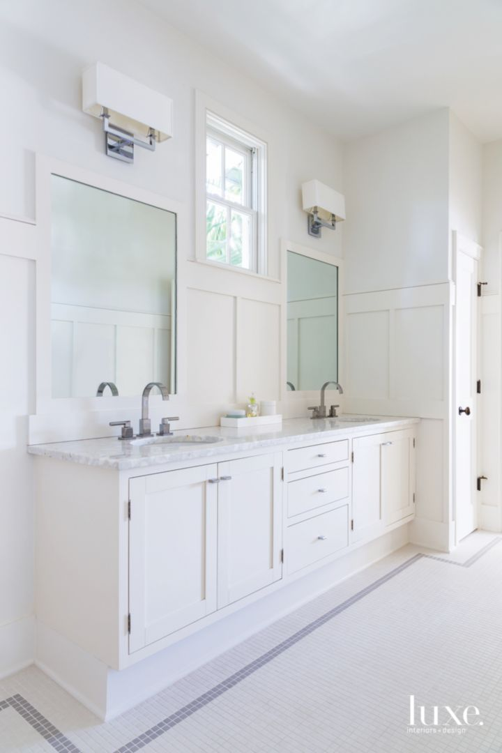 pictures to hang in master bathroom%0A Stylish touches and hints of shine combine with furnishings both new and  antique to establish a Paradise Valley Home that is equal parts traditional  and au
