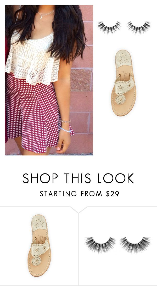 """""""platos closet finds - crop top / mini skirt / jack Rogers"""" by jeana-becton on Polyvore featuring Jack Rogers and Velour Lashes"""