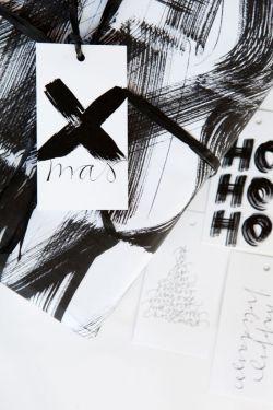 Ylva Skarp / Papírové vánoční štítky Xmas