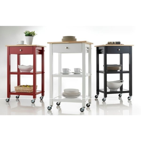 High Quality Wood Kitchen Cart On Wheels | Overstock.com Shopping   The Best Deals On  Kitchen