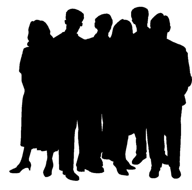 21 best silhouettes images on pinterest silhouettes silhouette rh pinterest com Small Group of People Clip Art People Clip Art
