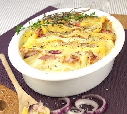 Recette Tartiflette irlandaise - Envie de bien manger. Plus de recettes à base de pommes de terre sur www.enviedebienmanger.fr/recettes/pomme%2520de%2520terre