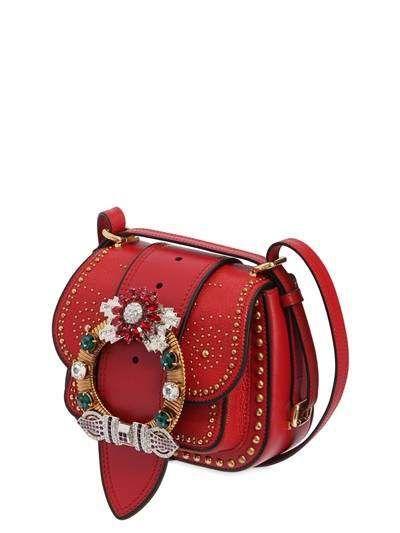 dc81e711e04b Dahlia Shoulder Bag W  Crystal Buckle Tote Purse