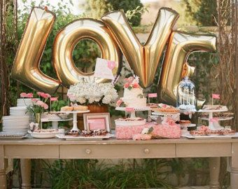 BEBÉ gigante globos 40 pulgadas Gold Mylar por ChrissyBPartyShop