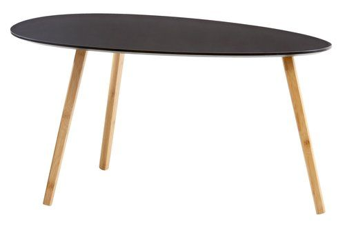 Konf. stolek KANSTRUP 46×90 černá/bambus | JYSK