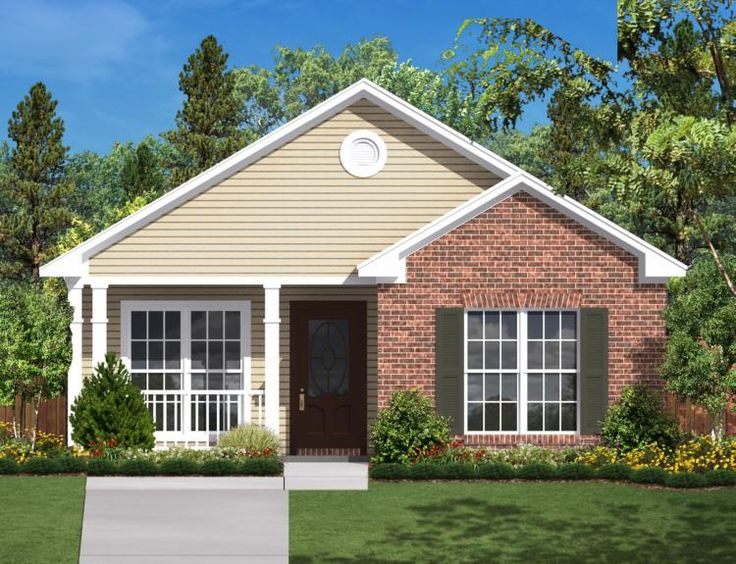 house plan 041 00023 this small efficient and attractive house design features a