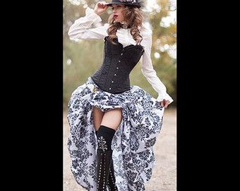 Ready to Ship 3 pc. Steampunk Victorian Corset by MajesticVelvets