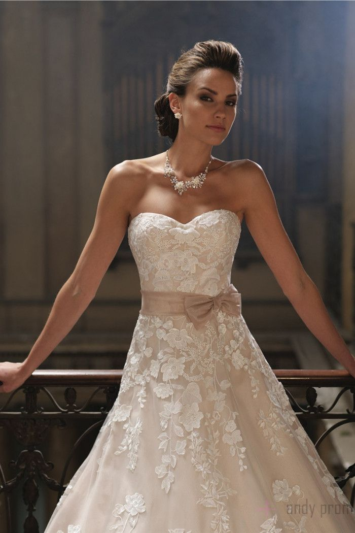 Chapel Train Organza,tulle Empire Sleeveless Sweetheart A-line Wedding Dress