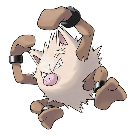 Primeape - 057 - It stops being angry only when nobody ...