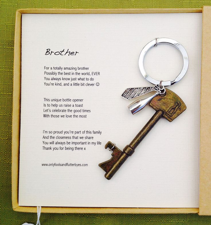 Brother...a unique and sentimental gift for one of your favourite 'rellies'!