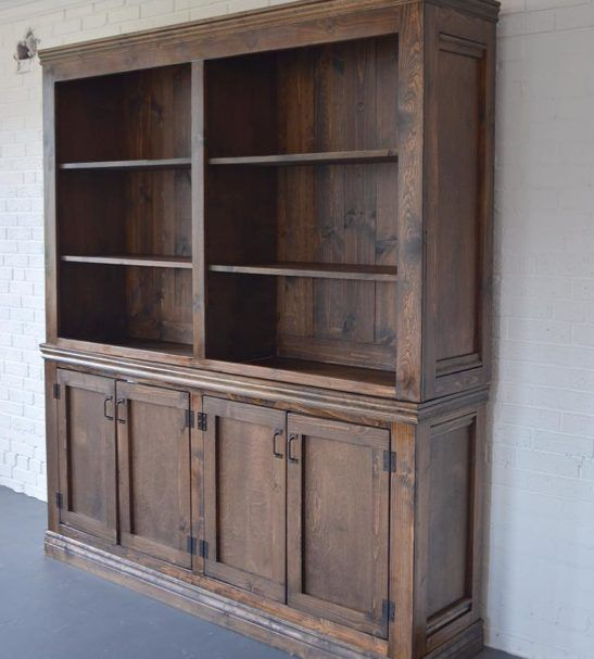Elegant Solid Wood Sideboard With Hutch   Handmade From Pine + Main