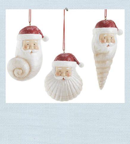 shell santa ornament