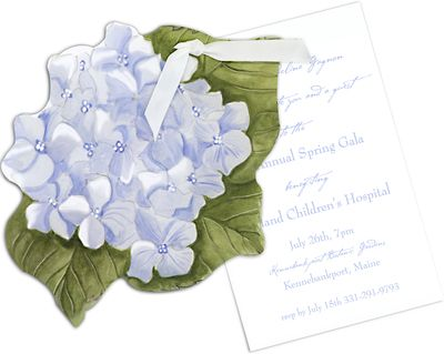 Hydrangea Die-Cut Invitations