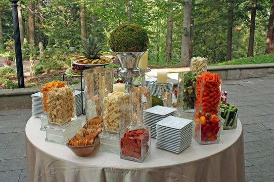 17 best images about wedding snack table ideas on pinterest snack tables veggie display and. Black Bedroom Furniture Sets. Home Design Ideas