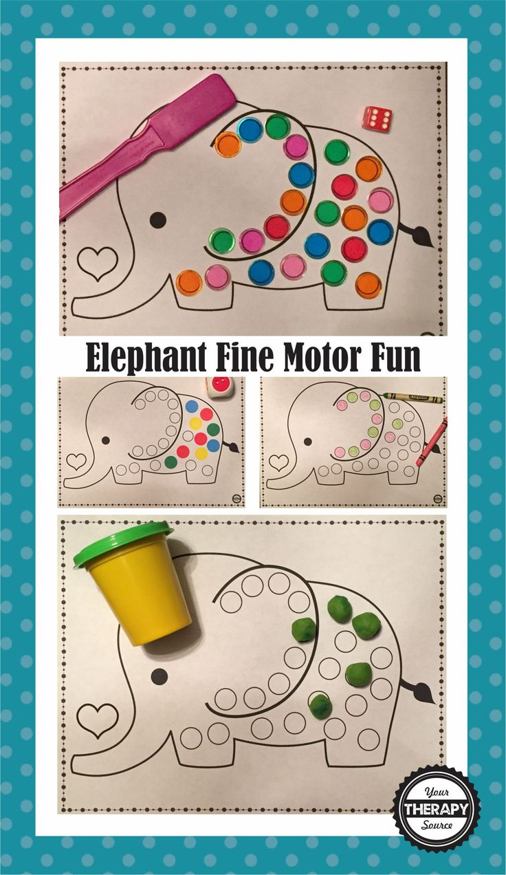 elephant fine motor fun from Your Therapy Source