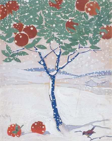 Όθων Περβολαράκης (1887-1974), Χιονισμένο τοπίο.