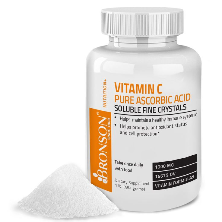 Vitamin C Crystals (Powder) Premium Pure GMO Free Ascorbic Acid, 1 Lbs (16 Ounces)