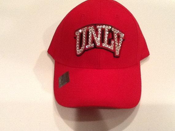 UNLV REBELS HAT by DesertPrincessDesign on Etsy, $30.00