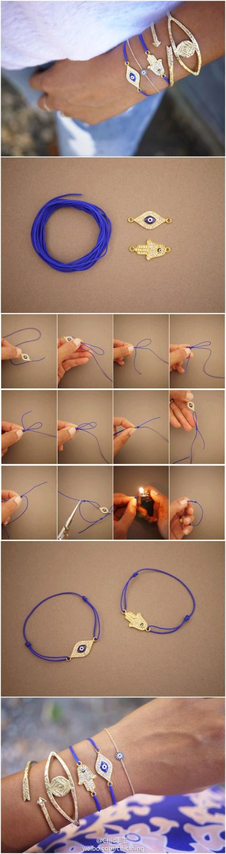 Chic handmade: a nice # chic accessories # accessories a simple rubber rope