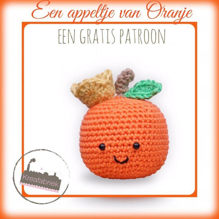 appeltje van oranje, #haken, gratis patroon, Nederlands, amigurumi, Koningsdag, #haakpatroon