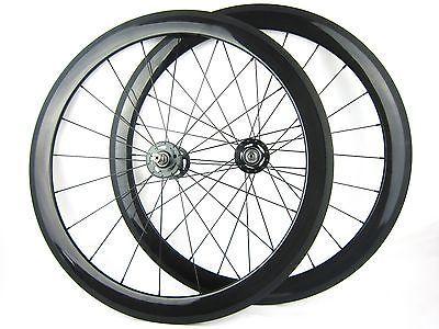 carbon bike 50mm clincher track wheels fixed gear(single speed) wheelset 700C
