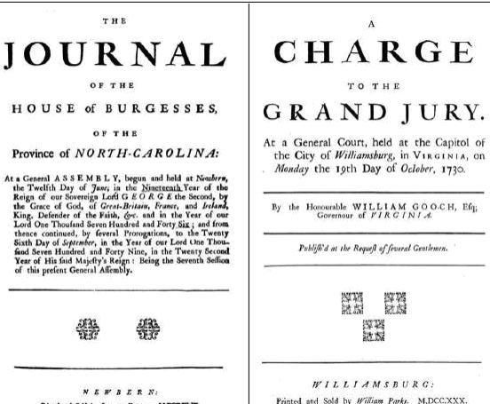 Facsimile of the journal of the house of burgesses 1749 printed