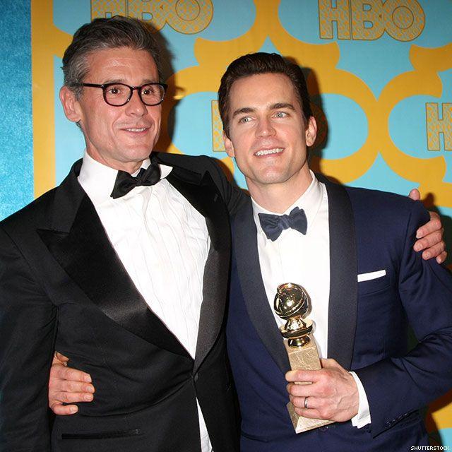 Simon Halls, 51, and Matt Bomer, 38